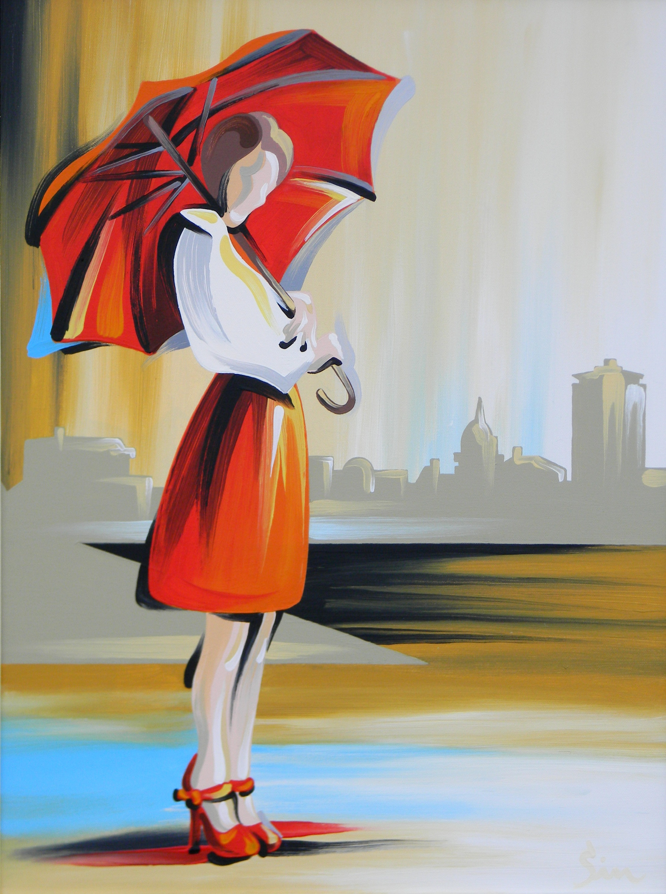 'Lady with Umbrella'