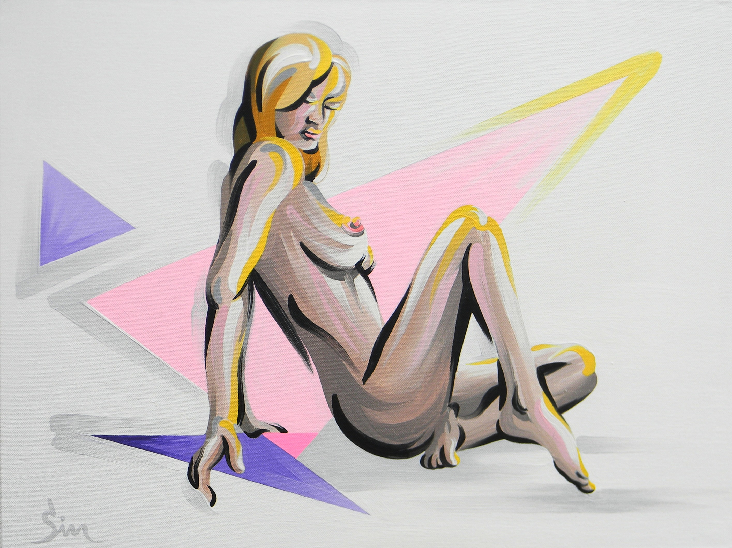 'Nude and Triangles'