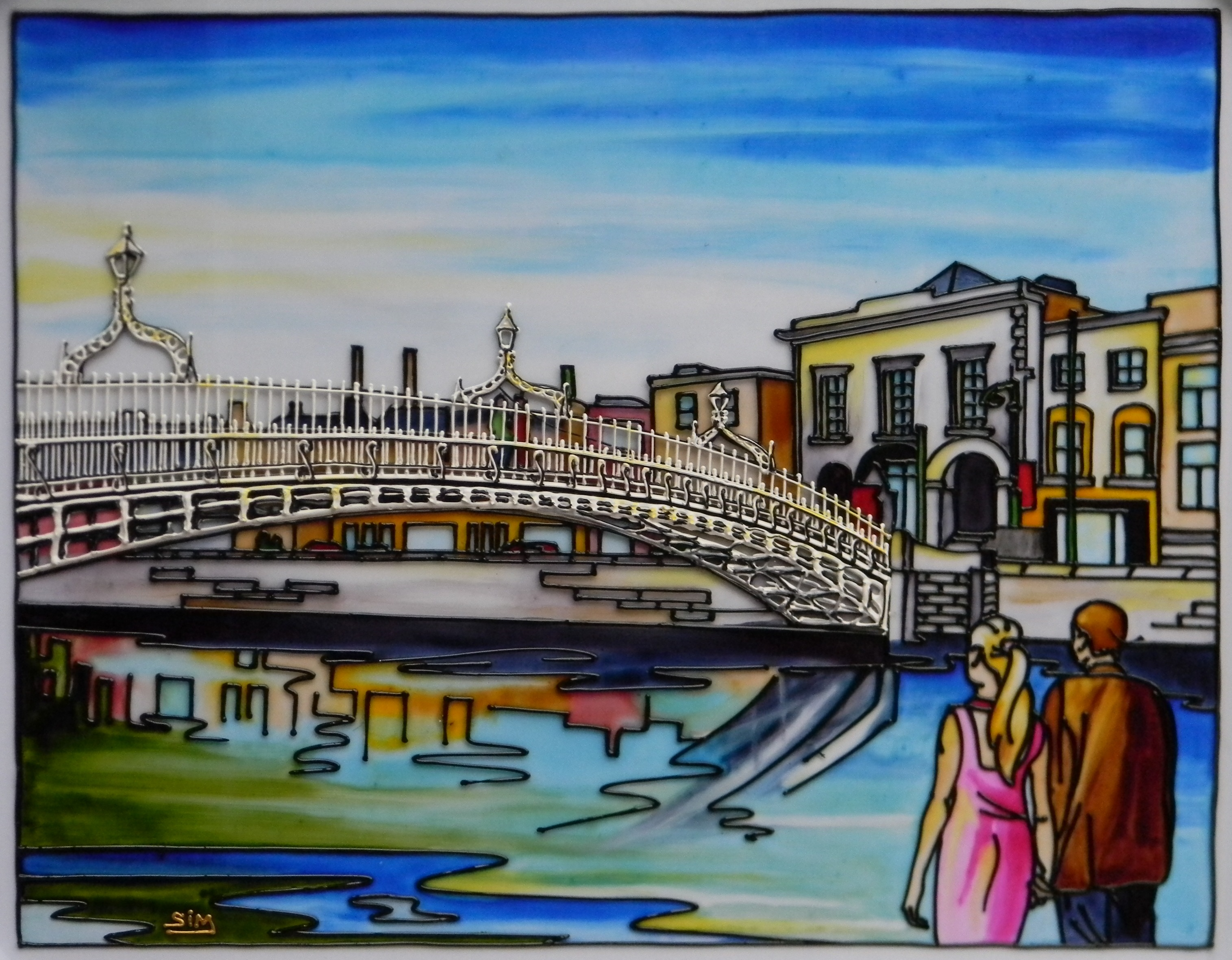 'The Hal'penny Bridge B, Dublin'
