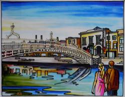 'The Hal'penny Bridge B, Dublin'