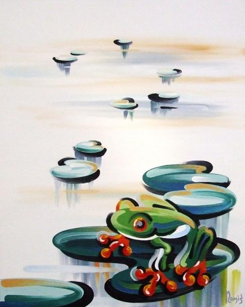 Frog On Lily Pad B