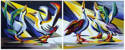 Blame it on the Boogie (Diptych)