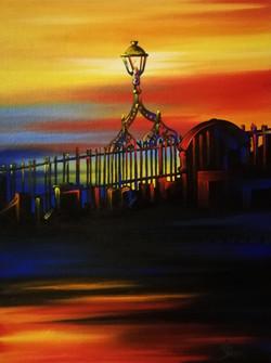 'The Hal'penny Bridge & Four Courts'