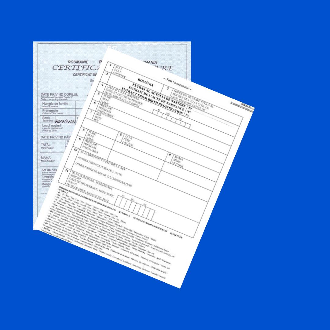 Duplicate, Certificate Multilingve