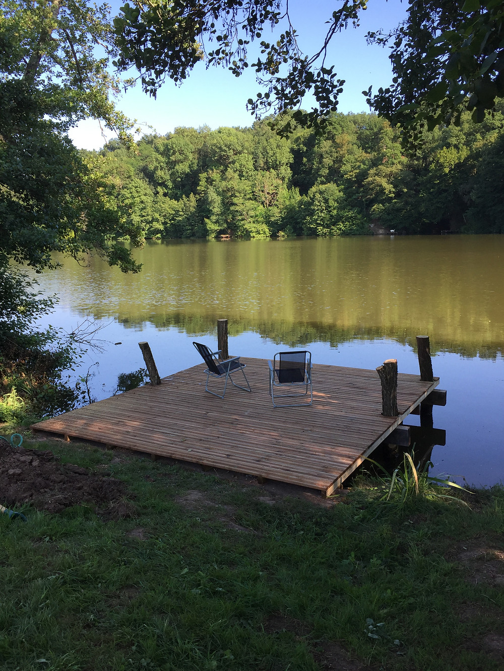 Our newly built pontoon, thank you Colin and Lee
