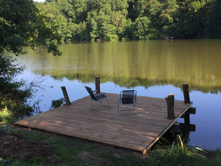 Our new pontoon, thank you Colin and Lee