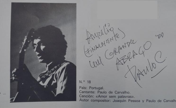 Paulo de Carvalho a representar Portugal no Festival OTI 1977