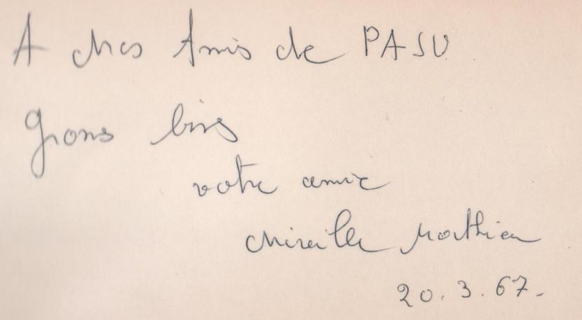 Autógrafo de Mireille Mathieu