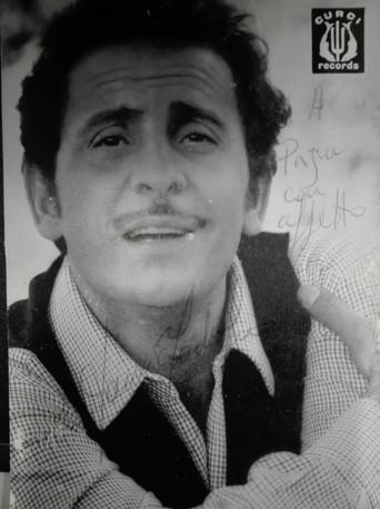 Autógrafo de Domenico Modugno para o PÁJU