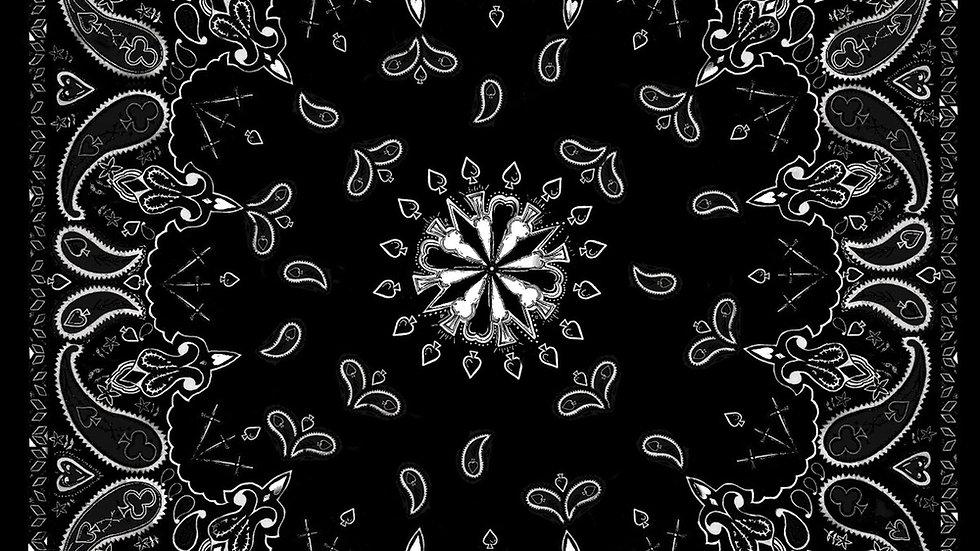 Bandana Black Paisley
