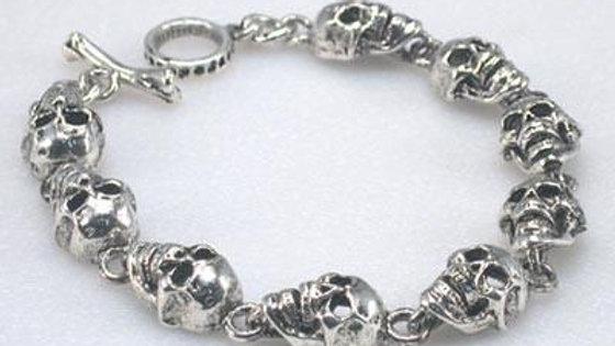 Flat Skull Chain Bracelet