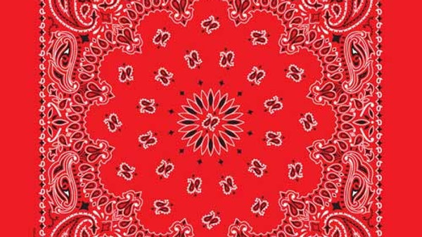 Bandana Paisley Red