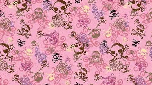 Bandana Pink Skulls