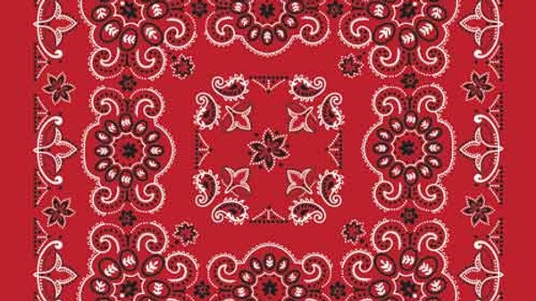 Bandana Texas Paisley Red