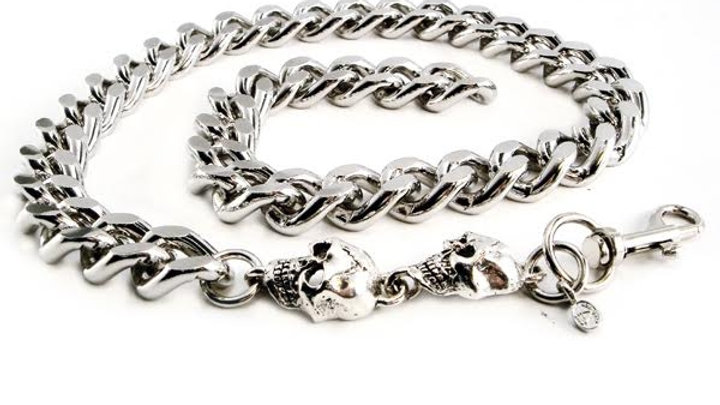 """Monster Leash Necklace with Skull 22"""""""