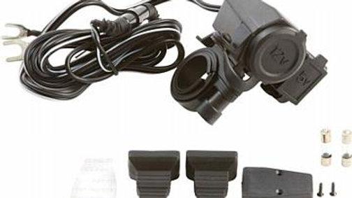 Diamond Plate Handlebar Mount 5V USB/12V Lighter Adapter