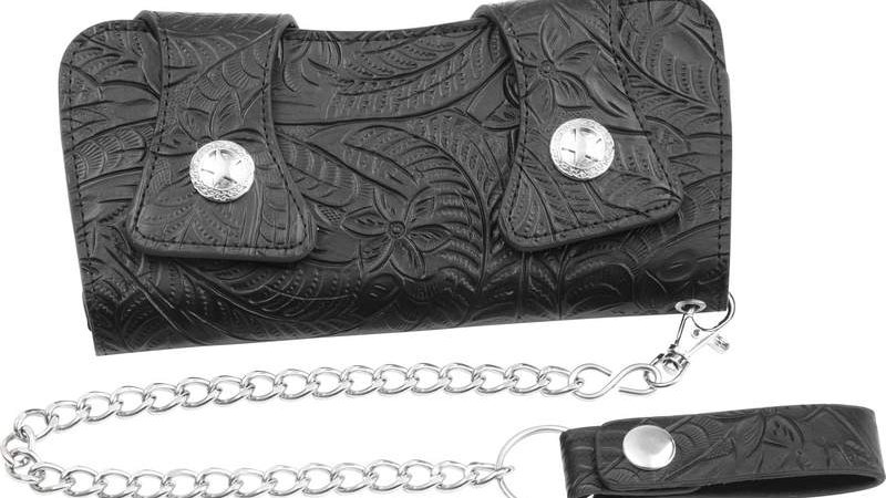 Casual Outfitters Solid Genuine Leather Chain Wallet