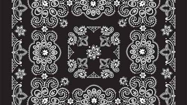 Bandana Texas Paisley Black