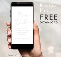 Caroline - Rose Gold Foil