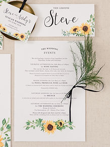 Sunflowers Wedding Stationery Information
