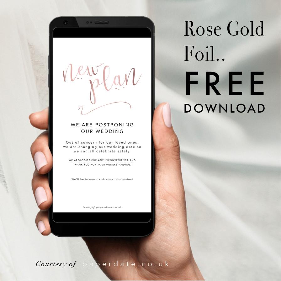 Emma -  Rose Gold Foil