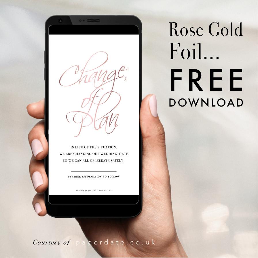 Fancy Foiling - Rose Gold Foil
