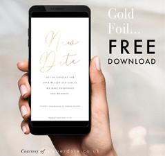 Caroline - Gold Foil