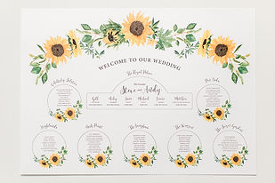 Sunflowers Wedding Stationery Table Plan