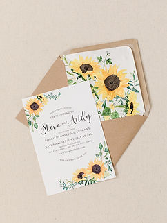 Sunflowers Wedding Stationery Invitations