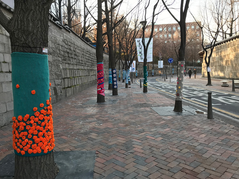 Christmas Tree cozies in Seoul!