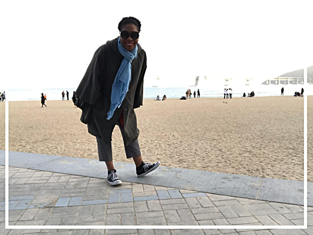 Haeundae Beach---Busan. Love a winter beach!