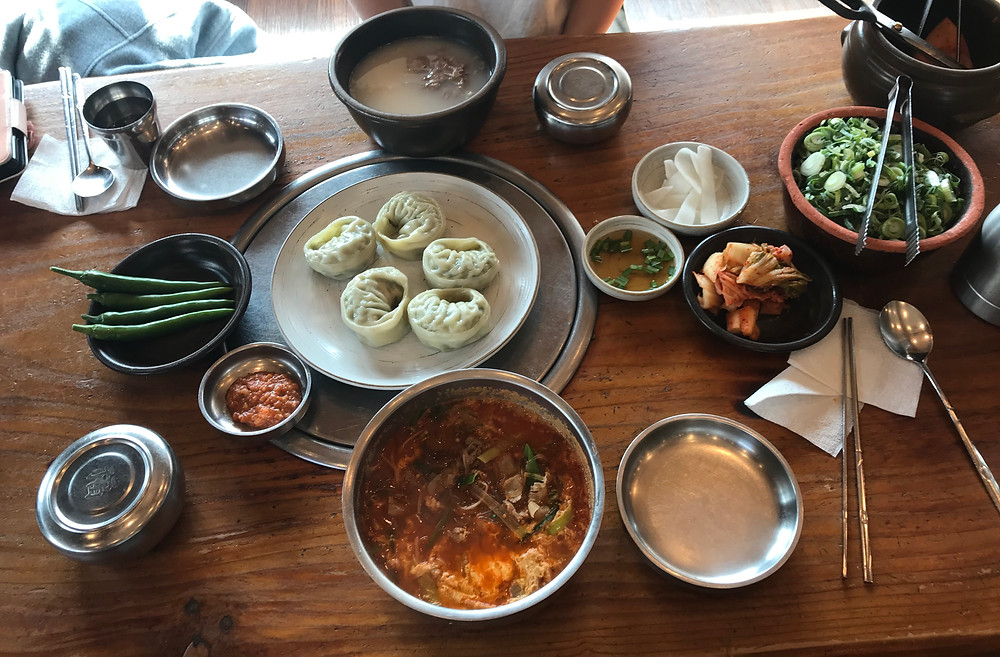 Mandu Dumplings and Gook Bab Soup