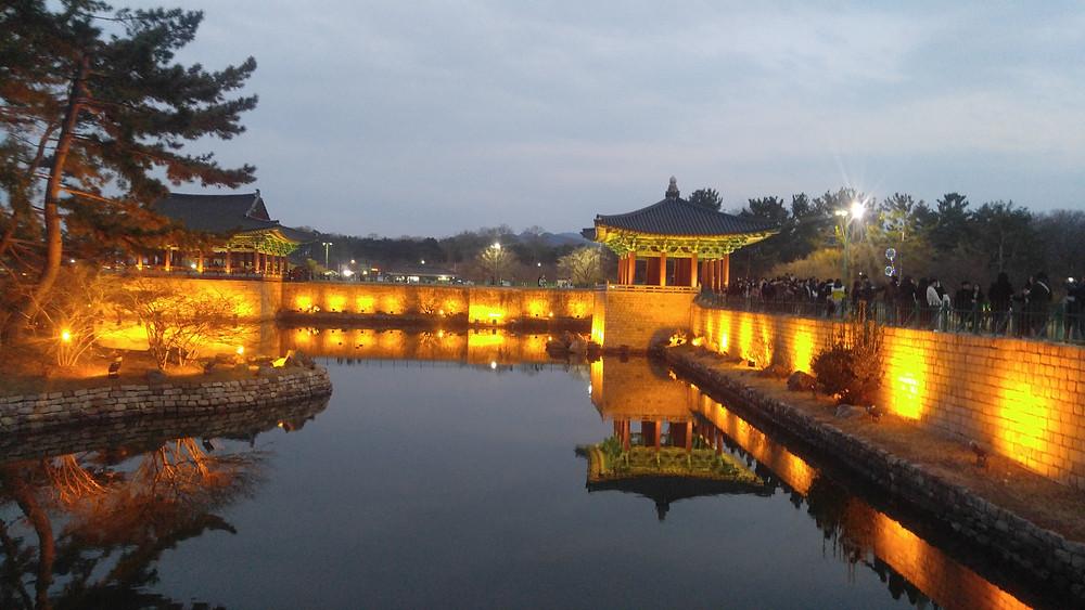 Donggung Palace and Wolji Pond, S. Korea