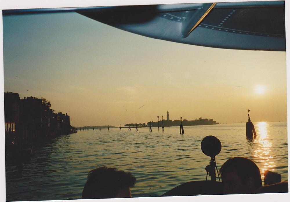 Gliding into Venice