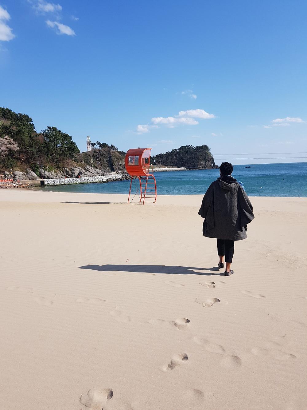 KC at Namildae Beach, South Korea
