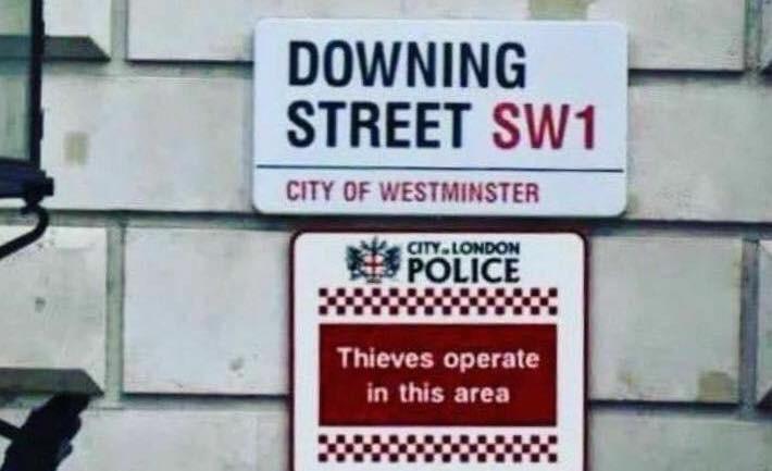 I wonder if Mr Plod has a good sense of humour. Pic Credit : Scott Scott on Twitter