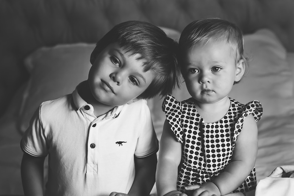 Marianne Haggstrom Photography - Deep in Though Sibling portrait - matte edit - Child portraits - SW11 Battersea London