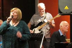 Anita Harris - Vocalist, Frank O'Brien - Bass Player and Kim Harris - Pianist