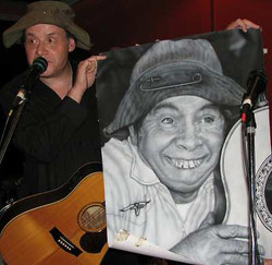 Jeff with Chad Drawing - Feb 2012