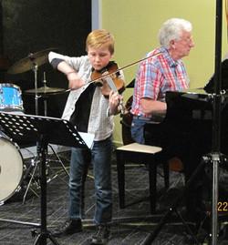 James Barber on violin