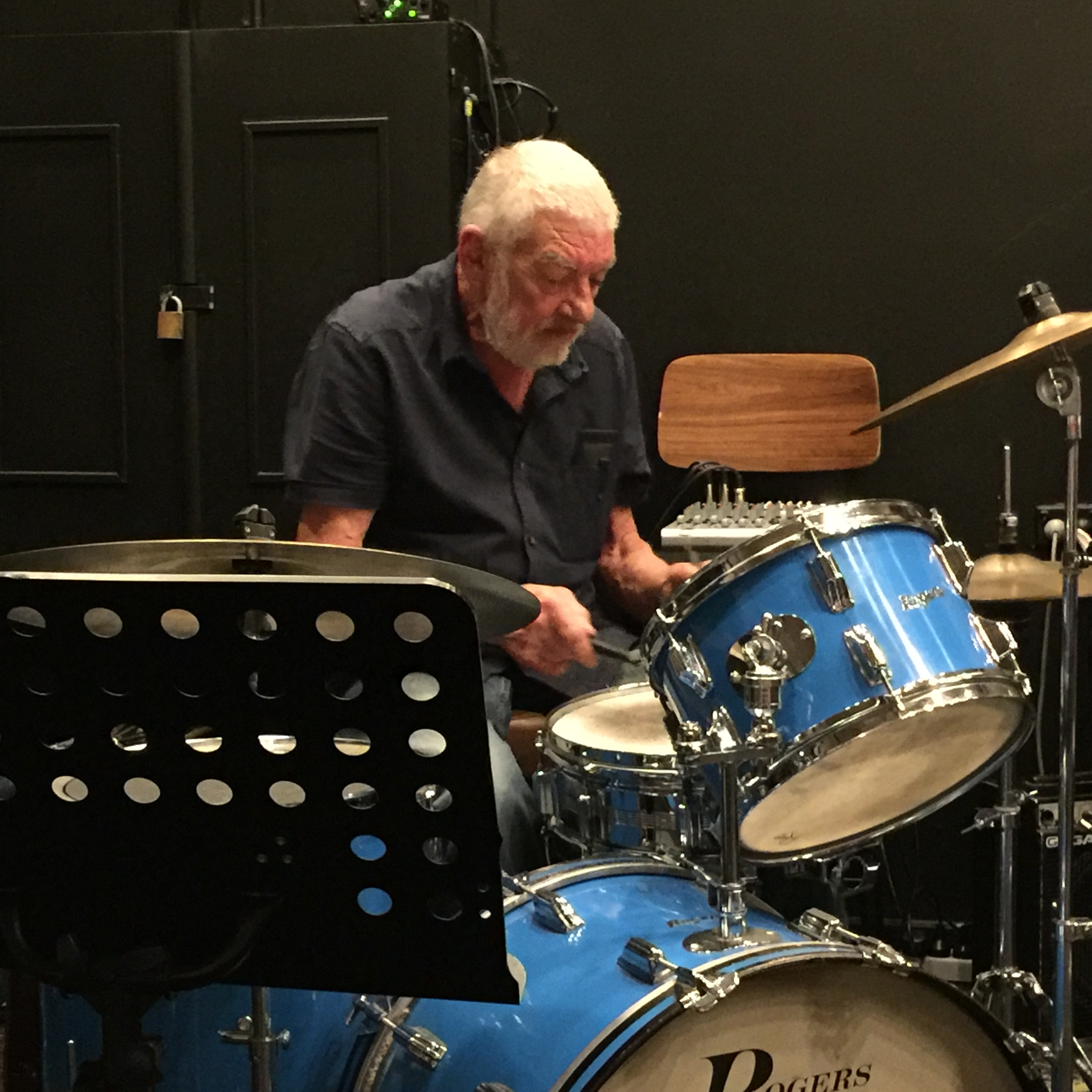 Alan Richards on drums