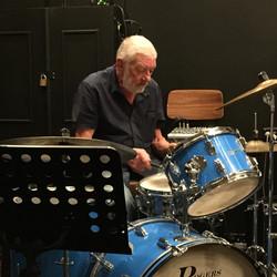 Alan Richards on drums