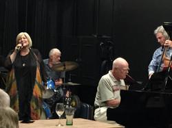 Anita Harris with Alan, Kim and Doug