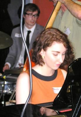Rachel Johnson (Piano) and Tom Roberts (Drums) at ShowBiz Social Club 281111