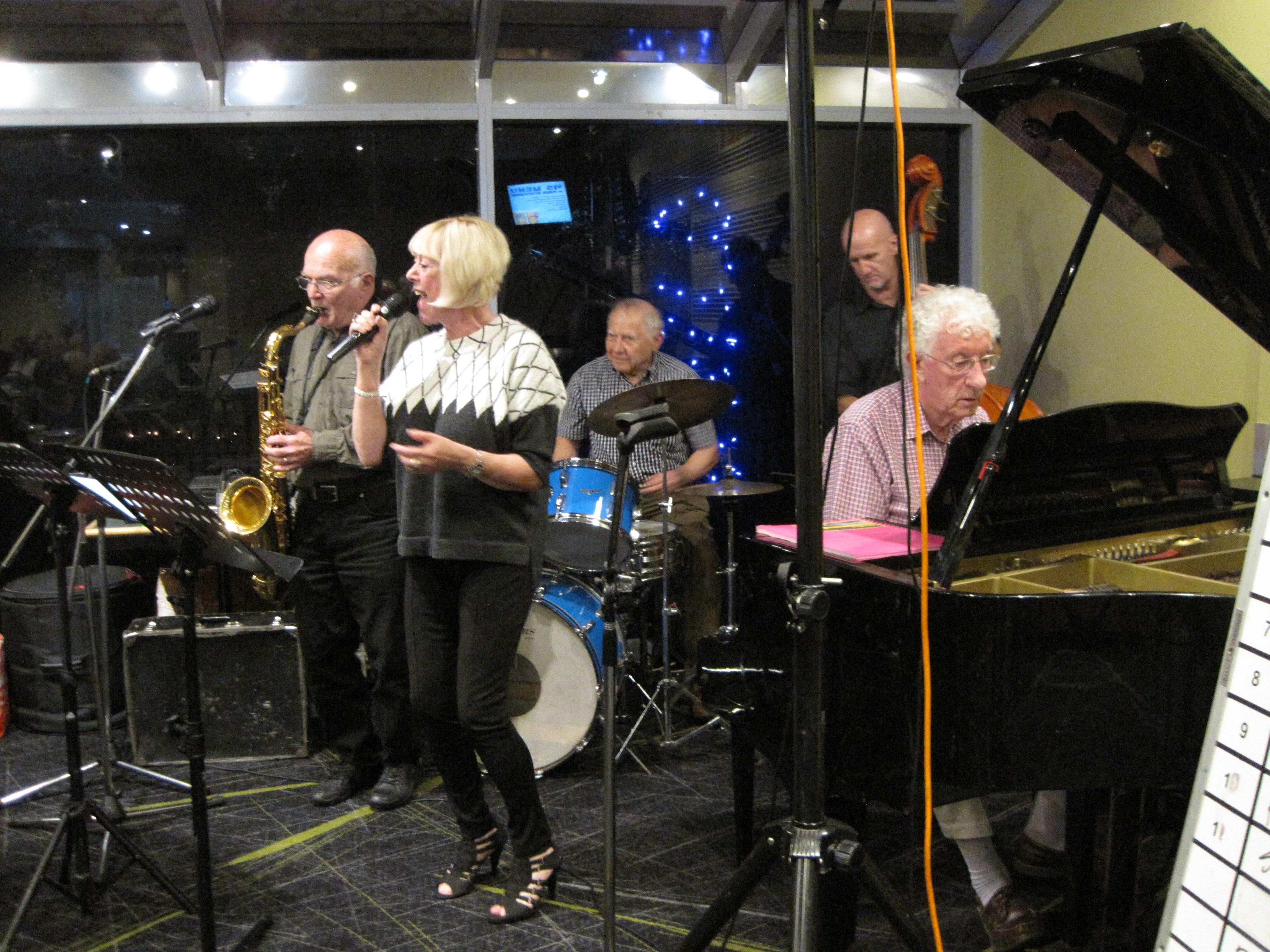 Kay Young w Colin, Howard, David and Grahame