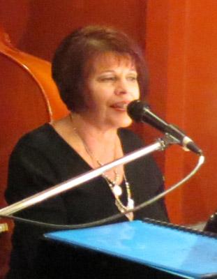 Judee Horin - pianist-vocalist-President of ShowBiz Social Club - 230712