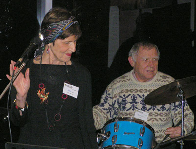 Jan Arndt - Vocalist and Howard Rowe - Percussion - ShowBiz Social Club 250711