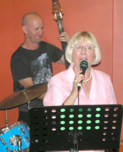 David Taylor (Dble Bass) and Kay Young (Vocalist)