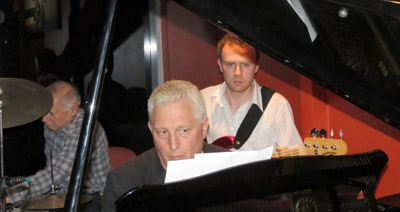 Howard Rowe (Drums), Ted Woolan (Piano) and Andrew Lye (Bass)
