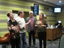 June Birthdays - Jan, Franco, Brian with honorory Cake Mistress Fem